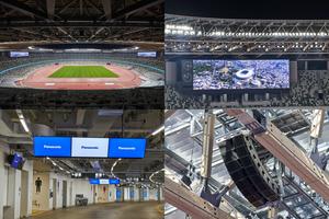 パナソニック、国立競技場に大型映像・音響設備など各種スタジアム設備を納入
