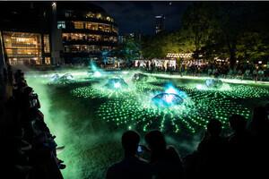 〈2021.7.15〉光と霧のデジタルアート庭園が、東京ミッドタウンに出現。