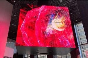 〈2021.8.26〉世界最大規模のキューブ型大型LEDディスプレイが「KABUTO ONE」1階アトリウムに登場